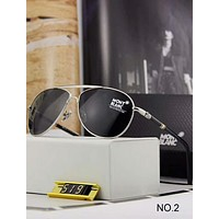 MontBlanc Polarized Metal Men's and Women's Large Frame Sunglasses F-A-SDYJ  NO.2