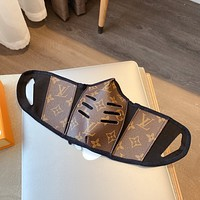 Louis Vuitton LV New color printed leather mask (safely disinfected) Coffee