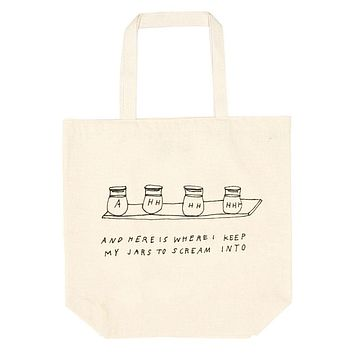Screaming Jars Oversized Tote Bag
