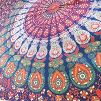 mandala pattern tapestry, boheiman Throw,  wall hanging, home decor Red bedspread, Twin Tapestry, cotton Single