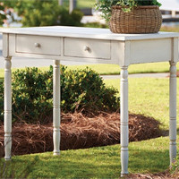 Rustic Desk Side Table - White Distressed