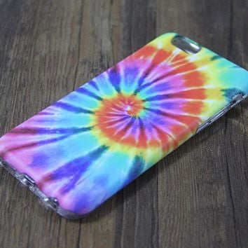 Rainbow Tie-Dye Tough Protective iPhone XS Max Case iPhone 7 plus SE S7 Edge Snap Case 3D 200