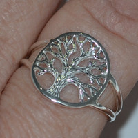 Tree of Life Rings - Tree of Life - Tree of Life Jewelry - Tree of life silver jewelry -Tree of life sterling silver rings