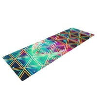 "Alveron ""Neon Geo Galaxy"" Map Yoga Mat"