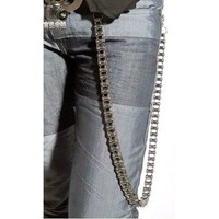 Men Motorcycle Biker Cyber Punk Rock Goth Pants Jeans Chains Accessories SKU-71117020