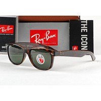 AUTHENTIC-RAY-BAN-New-Wayfarer-2132-RB2132-902-58--Tortoise Frame Polarized Lens