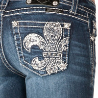 Miss Me Junior's Signature-Rise Bootcut Jeans
