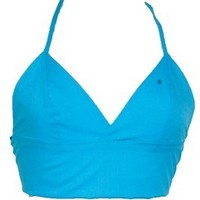 Turquoise Triangle Bralet Crop Top   Style Icon`s Closet