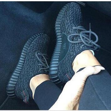 """Yeezy """"Adidas"""" Women Boost Sneakers Running Sports Shoes black"""