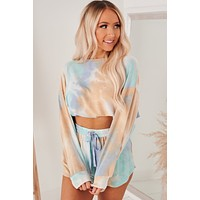Give Me A Moment Tie Dye Two Piece Set (Multi)