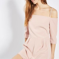 **Off Shoulder Playsuit by Oh My Love - Playsuits & Jumpsuits - Clothing