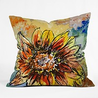 Ginette Fine Art Sunflower Moroccan Eyes Throw Pillow