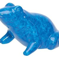 Egyptian Blue Frog Miniature Statue 3H