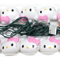 10 Light Green Wire Hello Kitty String Set