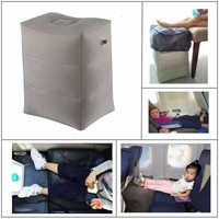 est Flocking Airplane Pillow Inflatable Travel Footrest Pillow Flight Pillow For Kids Sleeping
