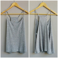 A Basic Grey Ribbed Tank