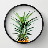 Pineapple V2 #society #buyart #artprints #decor Wall Clock by 83oranges.com | Society6