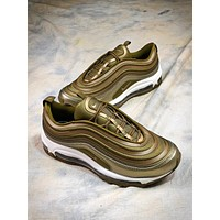 Nike Air Max 97 Metal Gold Sport Running Shoes