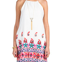 Embroidered Paisley Tank Dress