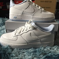 Nike Air Force 1 Low White Hydrogen Blue (GS) low-top sneakers shoes