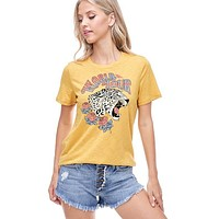 World Tour Cheetah Tee (Mustard)