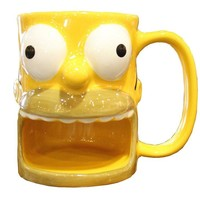 universal studios ceramic coffee cup mug the simpsons homer biscuit new