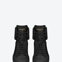 Signature Court Classic SL/01H HIGH TOP SNEAKER IN Black LEATHER
