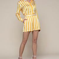 Awning Stripe Satin Short