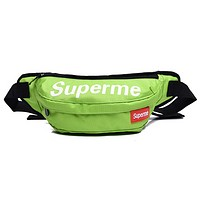 Supreme Fashion Casual Oblique Crossbag Zipper Sports Chest Pocket Green G
