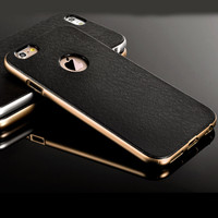 Black/Gold Luxury Hard Back Case For Iphone 5 5s 5g 6 6 Plus