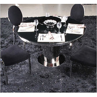 Silver Shine Bright Metal Dining Set  Furniture