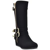 Toddler & Youth Wedge Mid Calf Boot