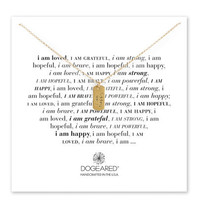 i am happy small dog tag necklace, gold dipped, 18 inch