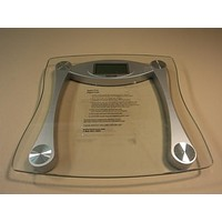 Taylor Digital Scale Bathroom Style Clear/Silver 440LB Capacity 7516 Glass -- Used