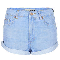 MOTO Blue High Waisted Hotpant - Denim - Clothing - Topshop