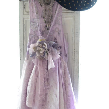 Gypsy duster, Romantic Bohemian gypsy Stevie Nicks style lace dress, Romantic country clothes, Boho clothing True rebel clothing Spring 2015