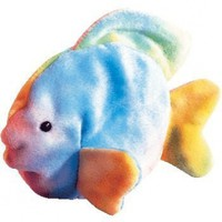 TY Beanie Baby - CORAL the Ty-dyed Fish (4th Gen hang tag)