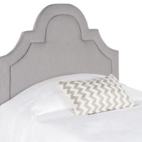 Kerstin Arctic Grey Arched Headboard Twin