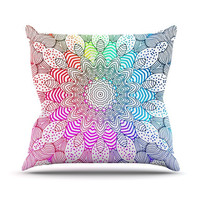 "Monika Strigel ""Rainbow Dots"" Outdoor Throw Pillow"