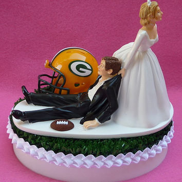 Wedding Cake Topper Green Bay Packers From Wedset On Etsy
