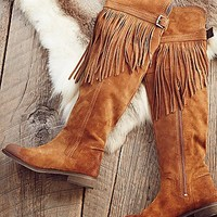 FP Collection Womens Can t Stop Fringe Over The Knee Boot