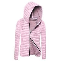 New Fashion Bubble Padded Jacket Hooded Collar Zip Up Thick Coat Winter Warm Outwear jacket women's winter