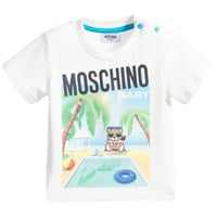 Moschino Baby 'Teddy Pool' Printed T-shirt