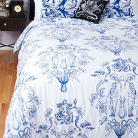 Nautical Maritime and Tide Duvet Cover in Full, Queen Size NS by ModCloth