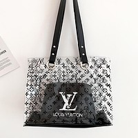 LV Louis Vuitton & NIKE & Adidas New fashion monogram letter hook leaf print shoulder bag handbag two piece suit bag women