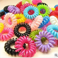 100pcs/lot  Hair Accessories Telephone Cord Phone Plastic Strap Hair Band Hair Rope Hair Ties Headbands