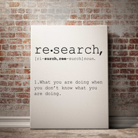 Re search definition Printable poster Printable art Wall art Instant download modern Home decor Print set Name Definition INSPIRATIONAL ART