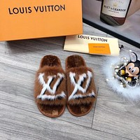 lv louis vuitton popular summer womens flats men slipper sandals shoes 148