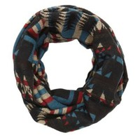 Tribal Print Infinity Scarf by Charlotte Russe - Black Combo
