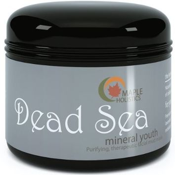 Dead Sea Mud Mask for Women, Men & Teens - Enriched with Organic Mineral Youth Formula to Balance Oily Skin, Remove Acne, Wrinkles & Exfoliate - Anti Aging Facial Cleanser Heals Oily Skin, Psoriasis, Minimizes Pores, Cleansing & Detoxifying Scrub - 9oz
